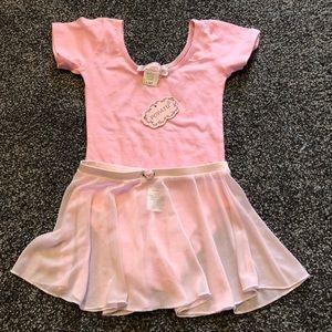Popatu pink leotard NWT & Danskin pink skirt